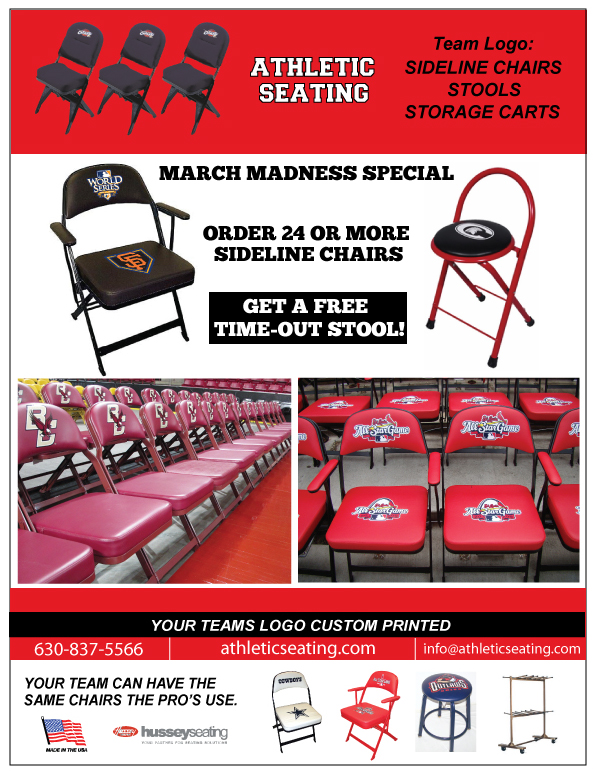 Logo Sideline Chairs with Free Time Out Stool